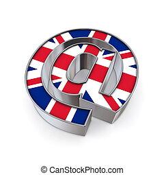 AT National - United Kingdom - silver shiny chrome @-symbol...