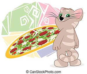 ?at near picture with pizza