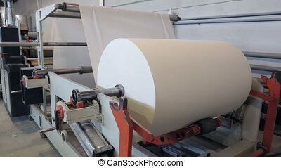 At paper manufacturing factory