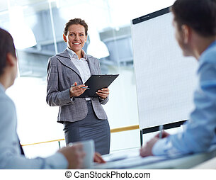 At presentation
