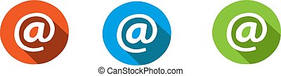 at sign icon isolated on background