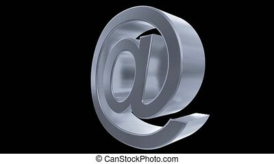 At sign symbol rotate email internet web social network e-mail digital loop