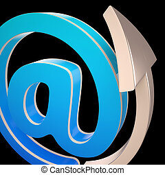 At-Symbol Shows Electronic Mail Correspondence