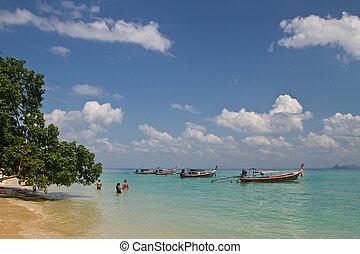 At the beach in thailand
