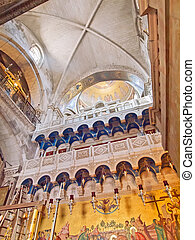 at the Church of the Holy Sepulchre