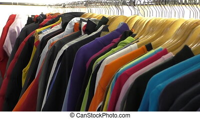 At the clothes shop