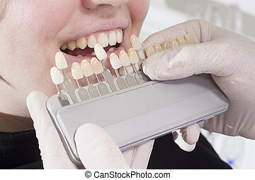 dentist choose white of teeth - at the dentist choose white...