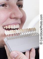 dentist choose white of teeth - at the dentist choose white...