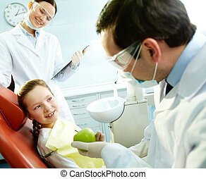 At the dentist?s