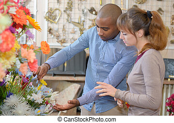 at the flower shop