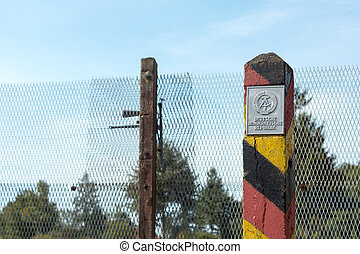at the former inner German border - At the former inner...