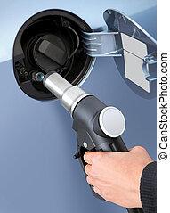 gas into the car