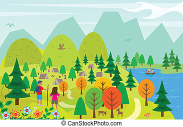 Clipart Vectorby RaStudio1 6 At The Lake