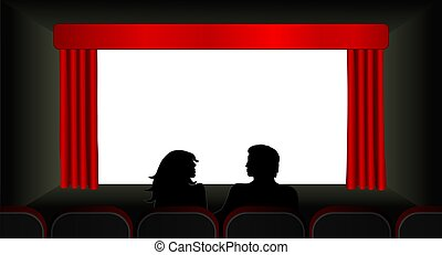 At The Movies Illustration