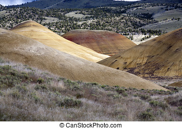 At the painted Hills.