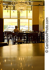 at-the-pub02 - man sitting alone in a pub and reading the...
