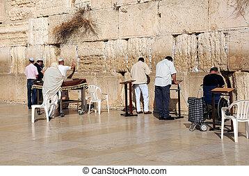 At the Wailing Wall in Jerusalem