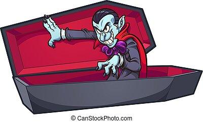 ataúd, vampiro