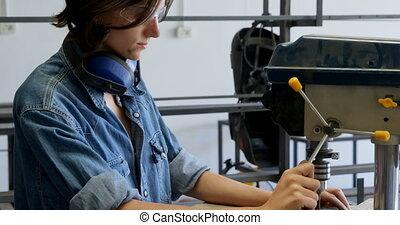 atelier, charpentier, machine, utilisation, foret, 4k, ...