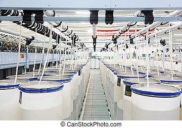 atelier, hebei, coton, 2013, décembre, peigné, zeao, 20, luannan, rotation, production, comté, china., province, ltd.
