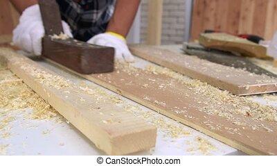 atelier, métier, bois, charpentier, fonctionnement