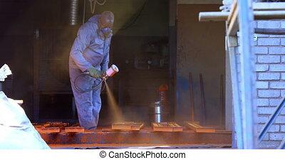 atelier, pulvérisation, machine, utilisation, metalsmith,...