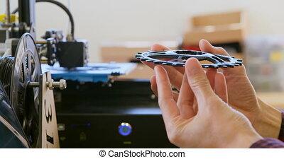 atelier, vérification, anneau, mécanicien, chaîne, 4k