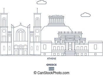 atenas, horizonte cidade, grécia