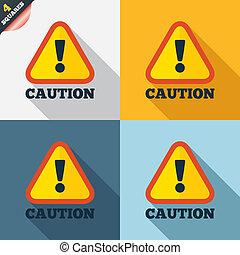 atención, muestra de la precaución, icon., exclamación,...