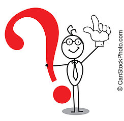 atención, pregunta, empresa / negocio, marca