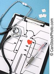 atención sanitaria, concept.(vertical)