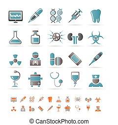 atención sanitaria, medicina, y, hospital