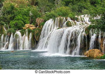 aterfalls in the Krka National Park, Croatia