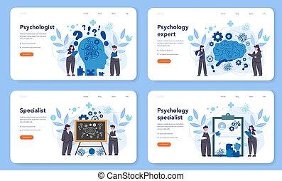 aterragem, bandeira, ou, página, profissional, set., psicólogo, terapeuta, teia