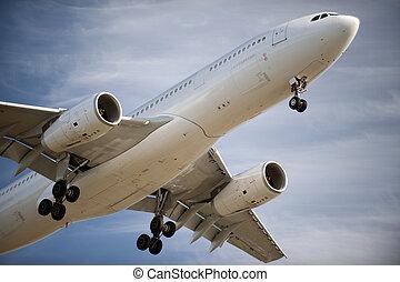 aterrizaje del aeroplano, antes