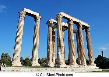 athènes, olympian zeus, temple, grèce