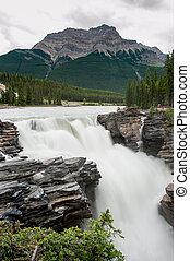 athabasca, 滝, 落ちる