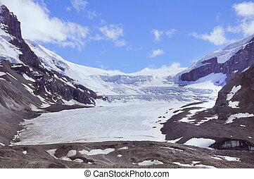athabasca, ghiacciaio, -, parte, columbia, icefield.