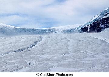 Athabasca Glacier - Jasper National Park - Cold winds blow...