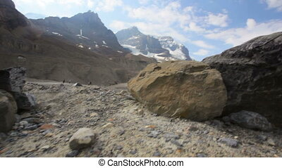 Athabasca Glacier - Melting Athabasca Glacier, Alberta,...