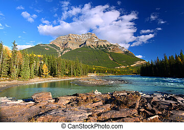 Athabasca River and Mount Kerkeslin