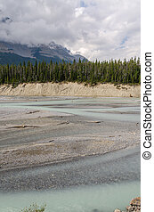 Athabasca River and the sky on the Icefield Parkway