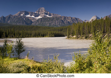 Jasper National Park - Athabasca River in Jasper National...