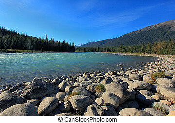 athabasca river in the canadian rockies