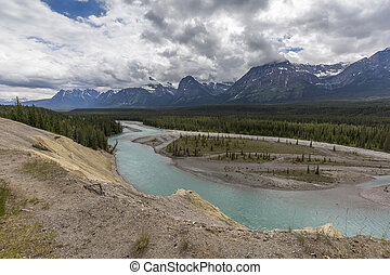Athabasca River - Japser National Park, Canada - Athabasca...