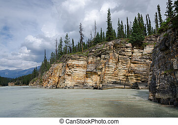 Athabasca River Parkway on Canada
