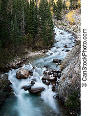 Athabasca River Rocky Mountains white water Canada