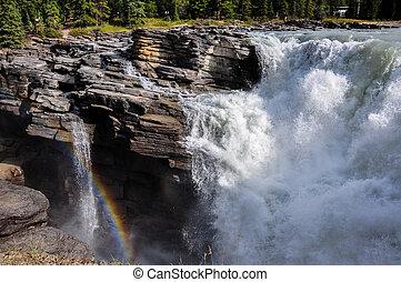 Athabaska falls, Alberta, Canada.