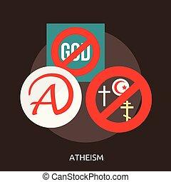 Atheism Conceptual illustration Design