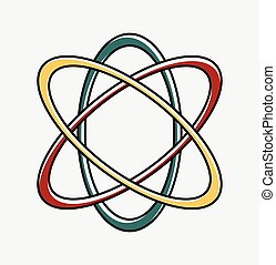 Atheism Symbol Design Vector Illustration